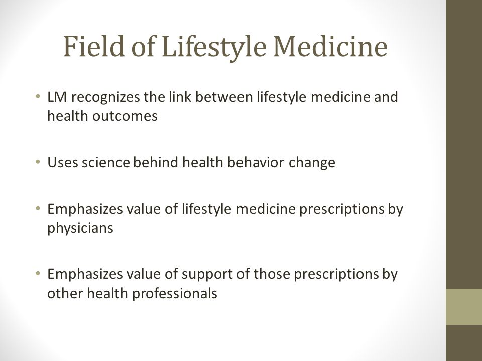 Field of Lifestyle Medicine