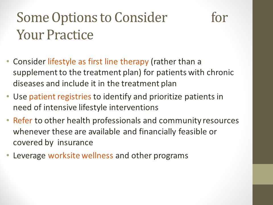 Some Options to Consider for Your Practice