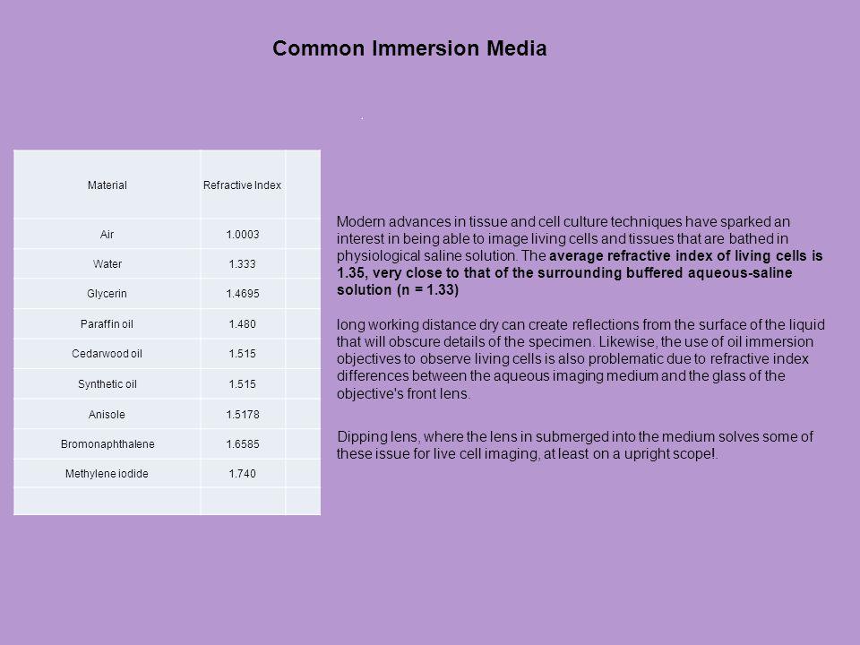 Common Immersion Media