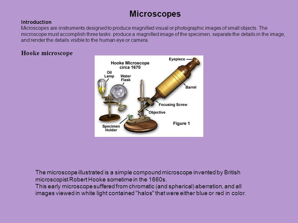 Microscopes Hooke microscope