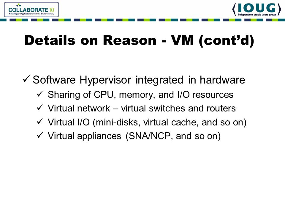 Details on Reason - VM (cont'd)