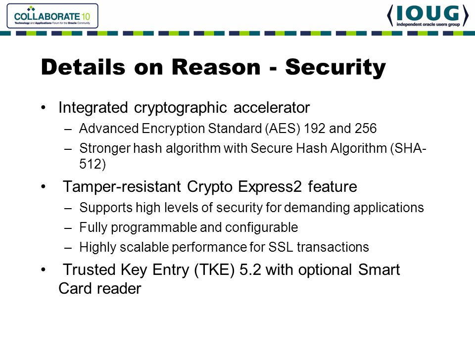 Details on Reason - Security