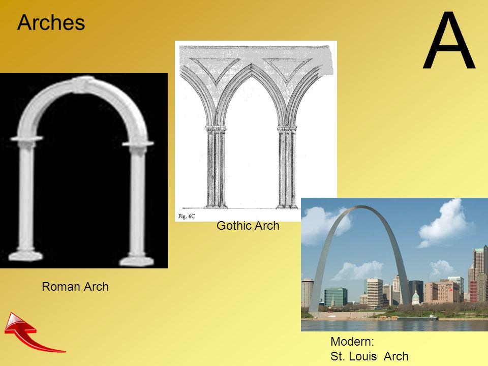 A Arches Gothic Arch Roman Arch Modern: St. Louis Arch