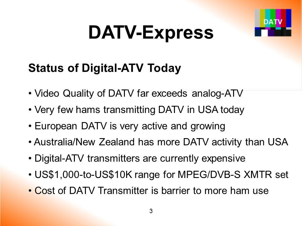 DATV-Express Status of Digital-ATV Today