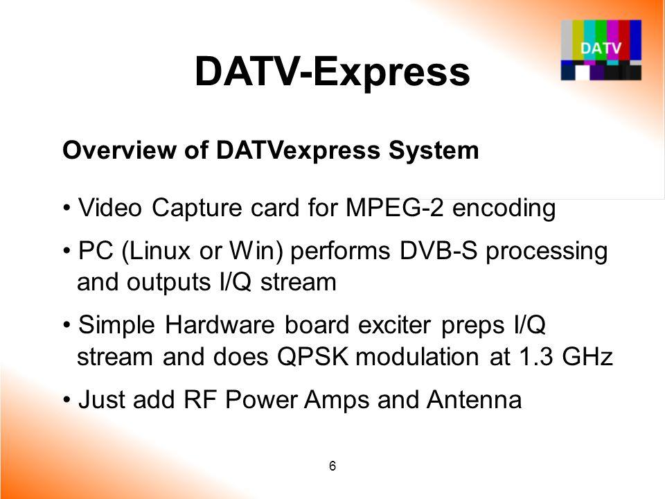 DATV-Express Overview of DATVexpress System
