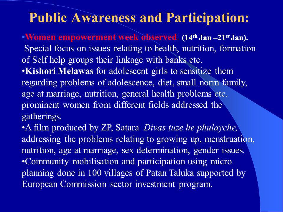 Public Awareness and Participation: