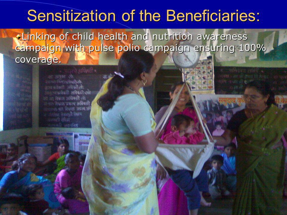 Sensitization of the Beneficiaries: