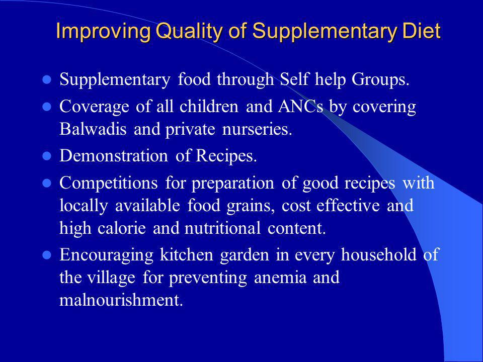 Improving Quality of Supplementary Diet