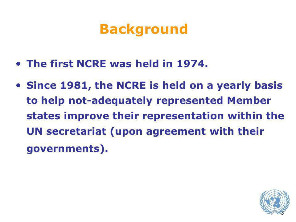 Background The first NCRE was held in 1974.