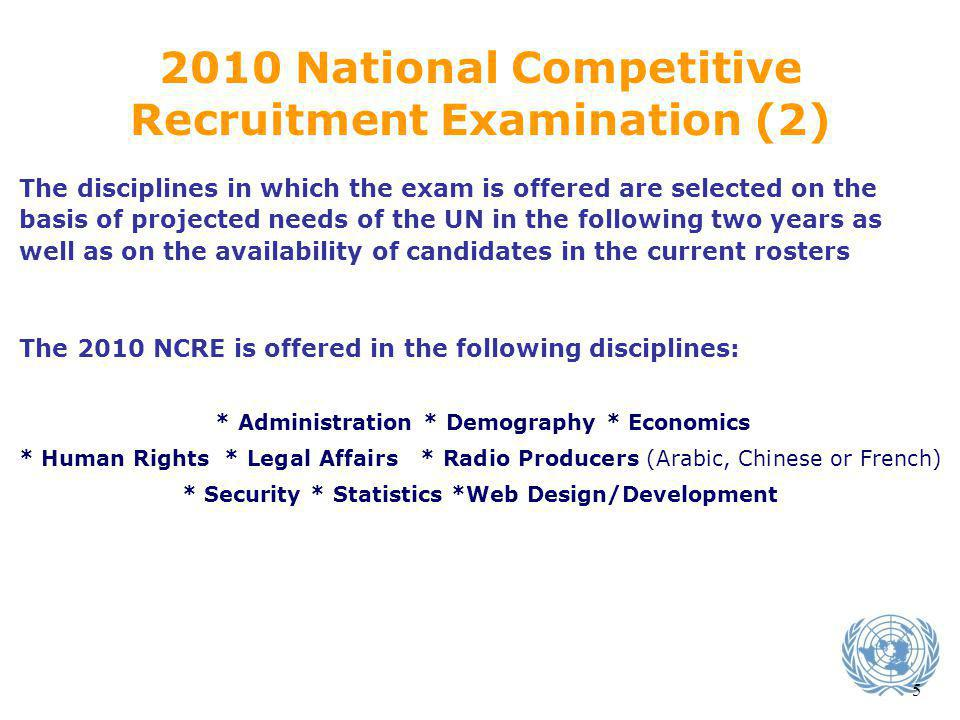 2010 National Competitive Recruitment Examination (2)