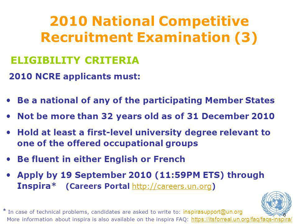 2010 National Competitive Recruitment Examination (3)