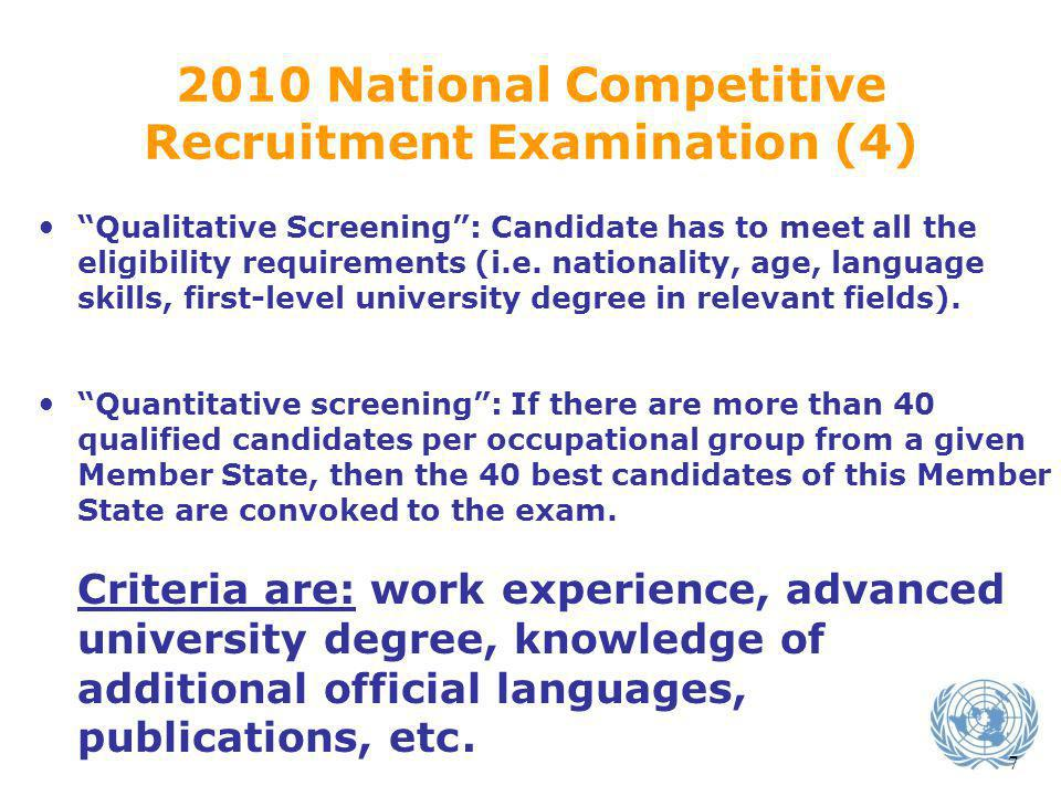 Recruitment Examination (4)