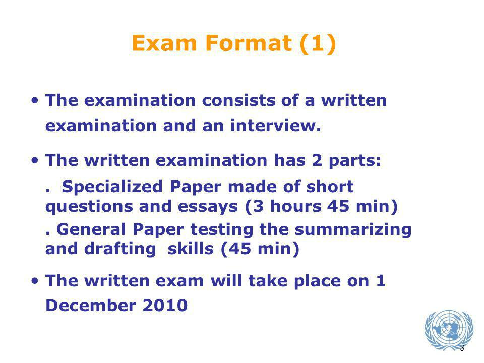 The Exam Date Exam Format (1)