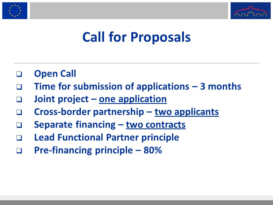 Call for Proposals Open Call