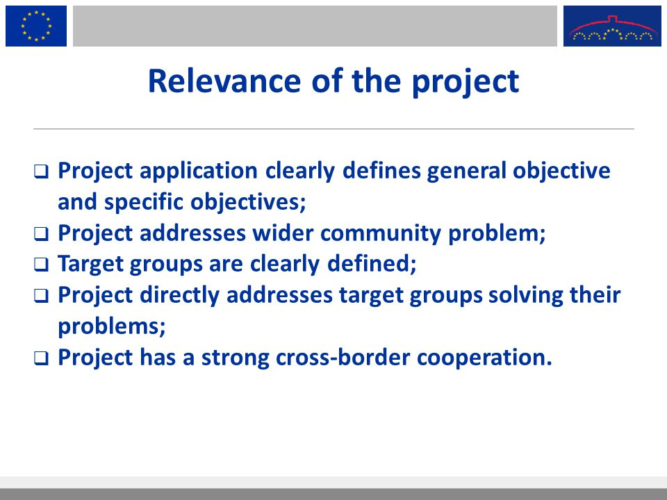 Relevance of the project