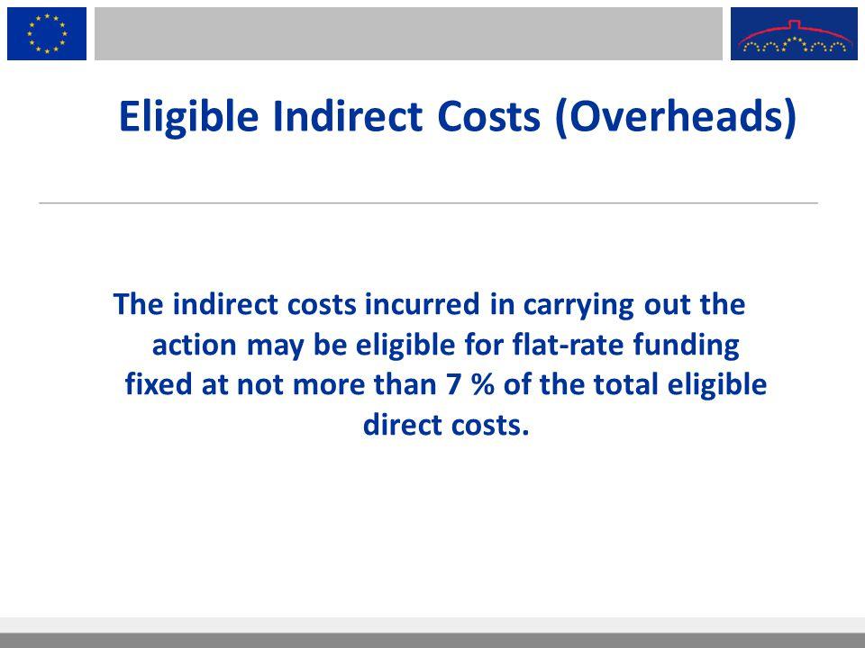Eligible Indirect Costs (Overheads)