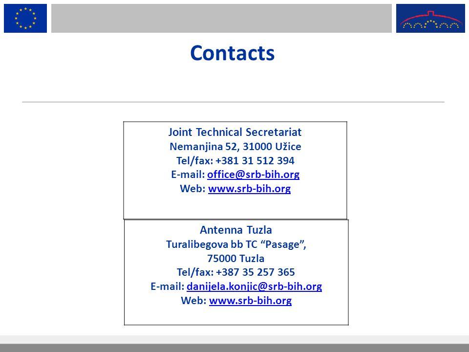 Contacts Joint Technical Secretariat Antenna Tuzla