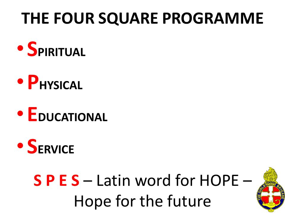 THE FOUR SQUARE PROGRAMME