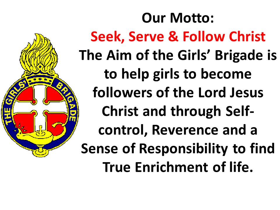 Image result for girls' brigade motto