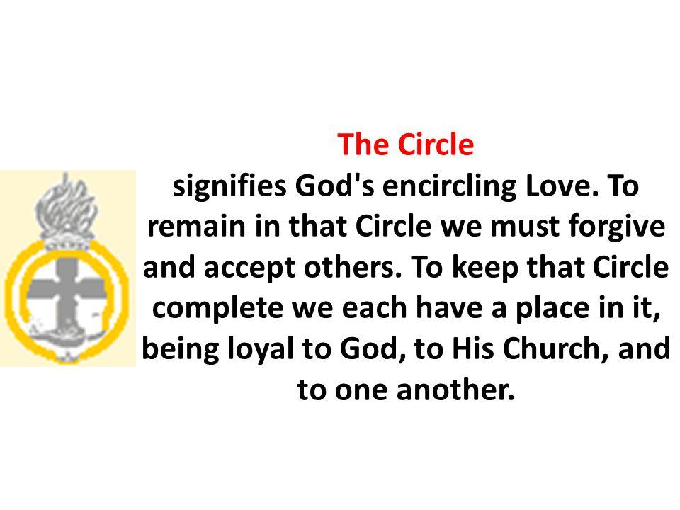The Circle signifies God s encircling Love