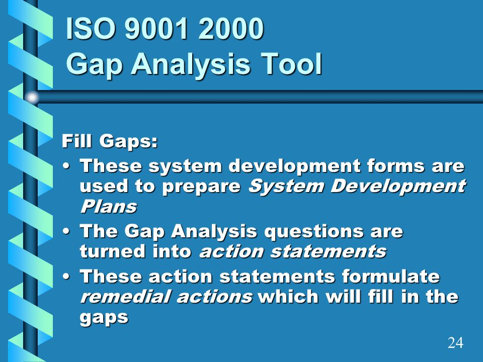 ISO 9001 2000 Gap Analysis Tool Fill Gaps: