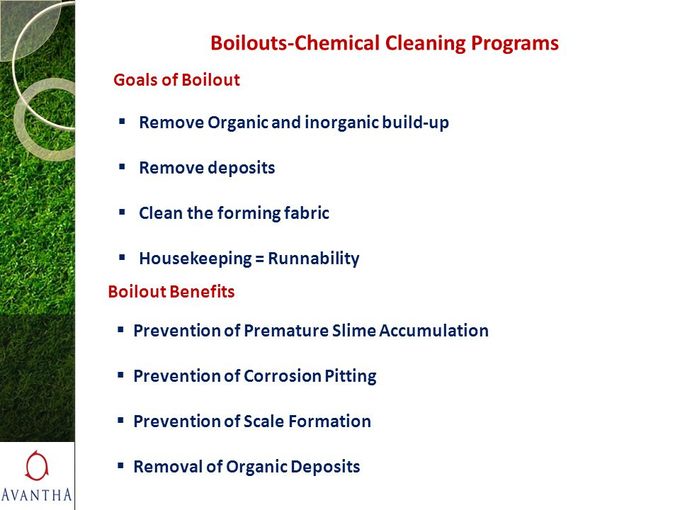 Boilouts-Chemical Cleaning Programs
