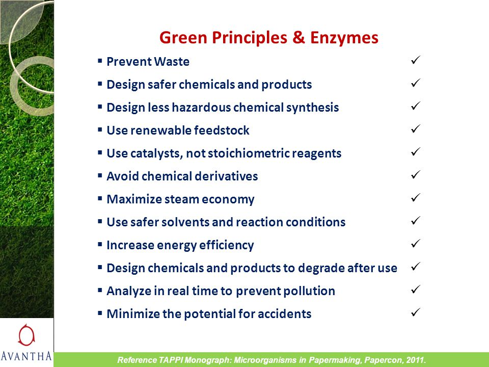 Green Principles & Enzymes