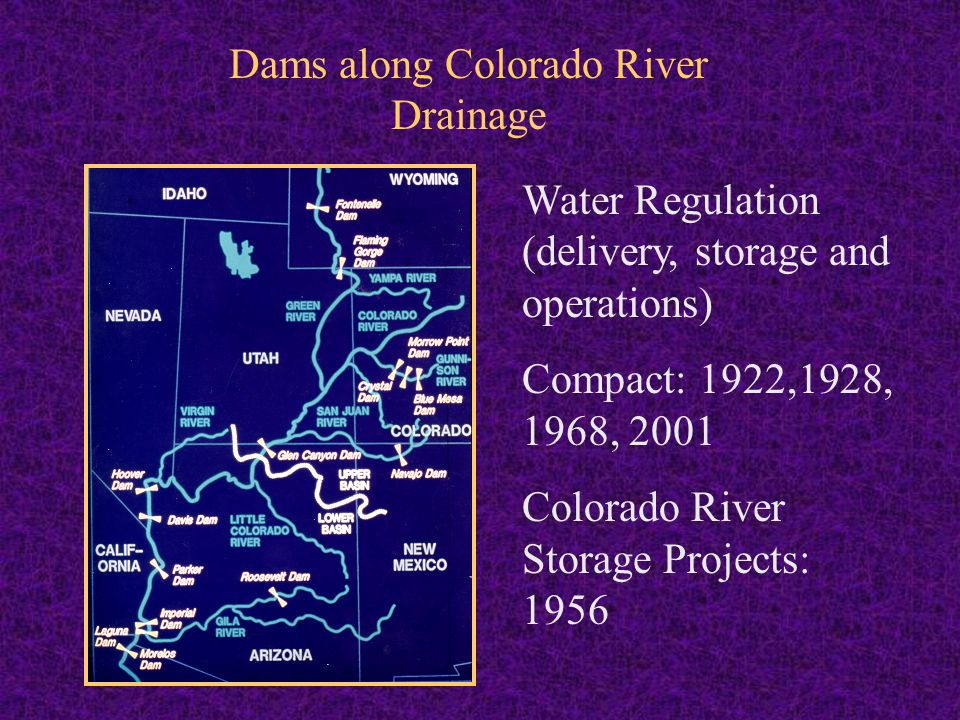 Dams along Colorado River Drainage