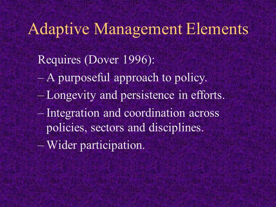 Adaptive Management Elements