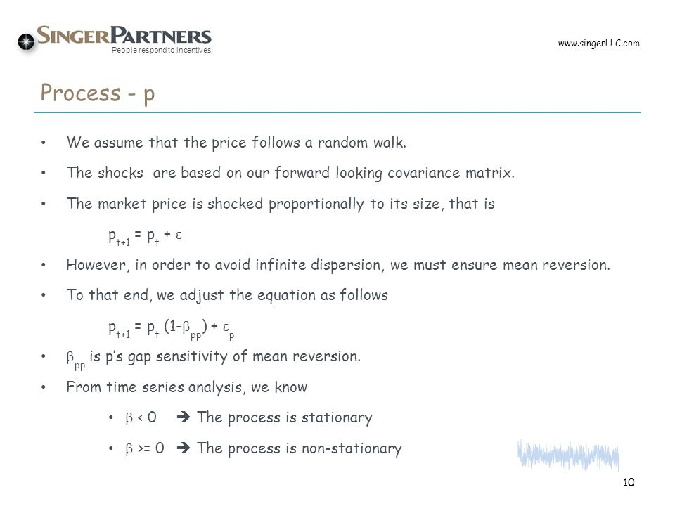 Process - p We assume that the price follows a random walk.