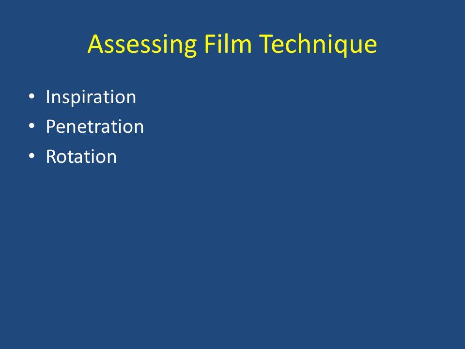 Assessing Film Technique