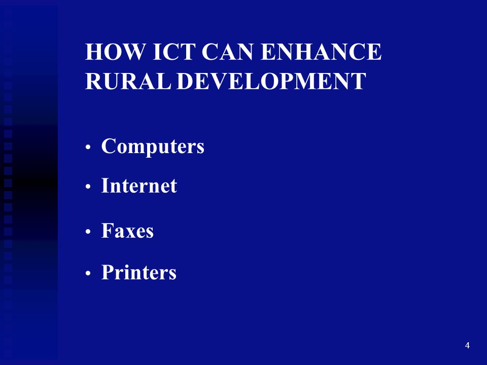 HOW ICT CAN ENHANCE RURAL DEVELOPMENT