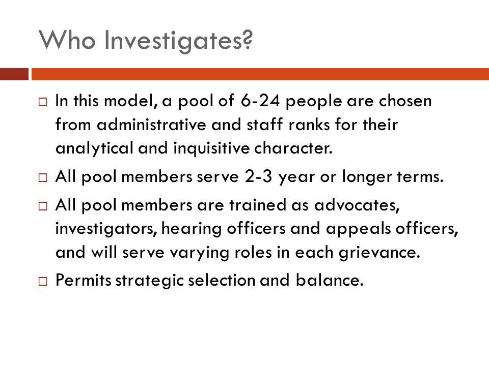 Who Investigates