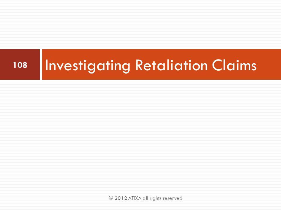 Investigating Retaliation Claims