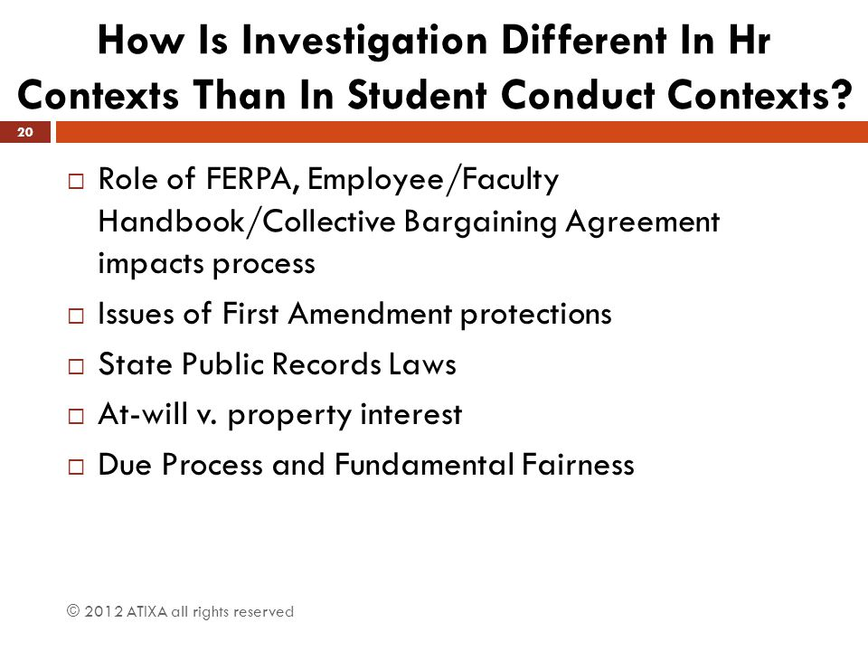 How Is Investigation Different In Hr Contexts Than In Student Conduct Contexts