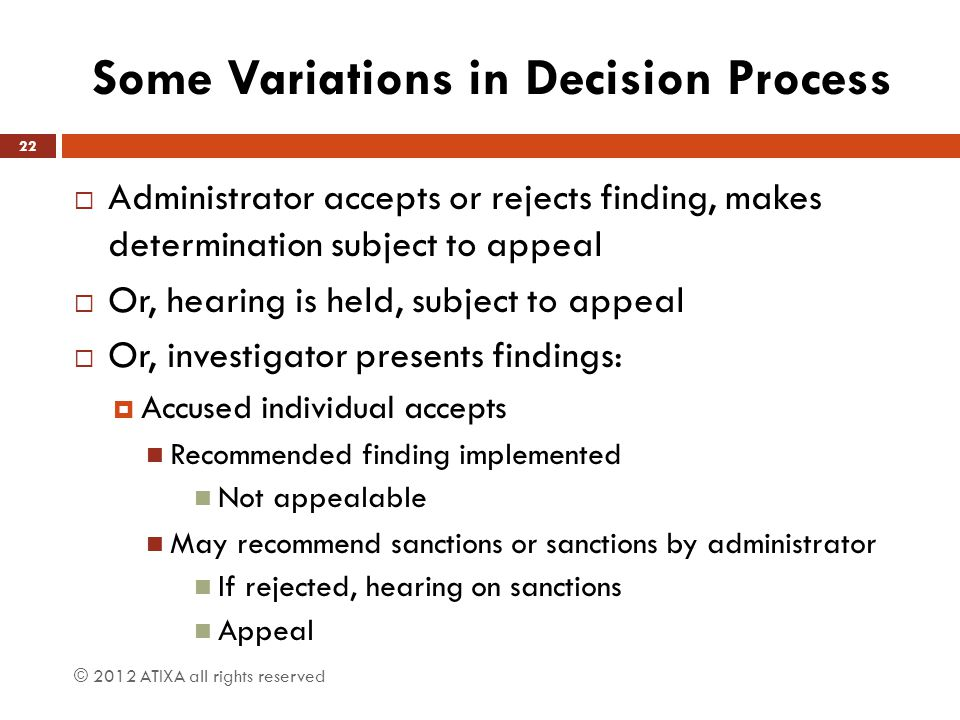 Some Variations in Decision Process
