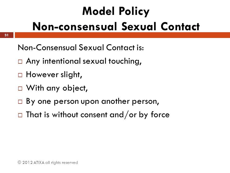 Model Policy Non-consensual Sexual Contact