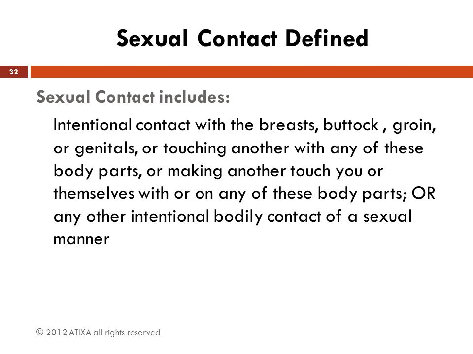 Sexual Contact Defined