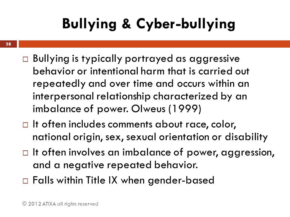 Bullying & Cyber-bullying