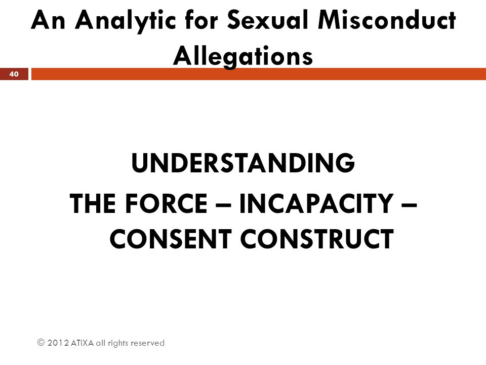 An Analytic for Sexual Misconduct Allegations