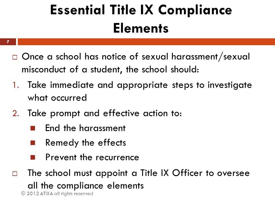 Essential Title IX Compliance Elements
