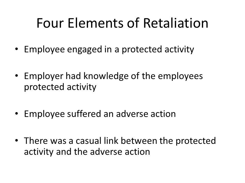Four Elements of Retaliation