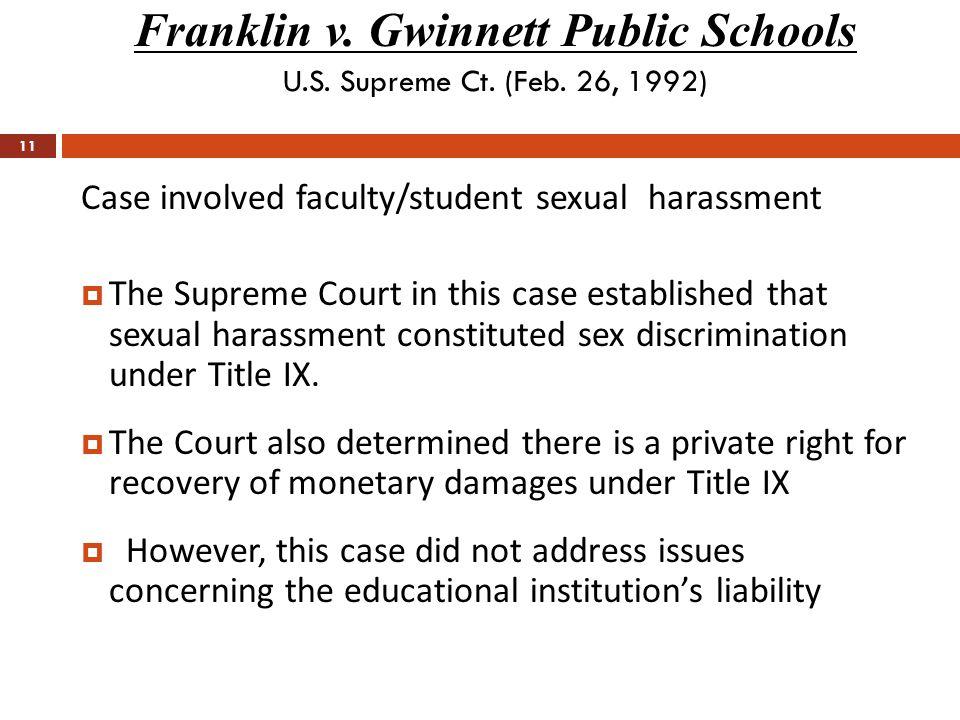 Franklin v. Gwinnett Public Schools