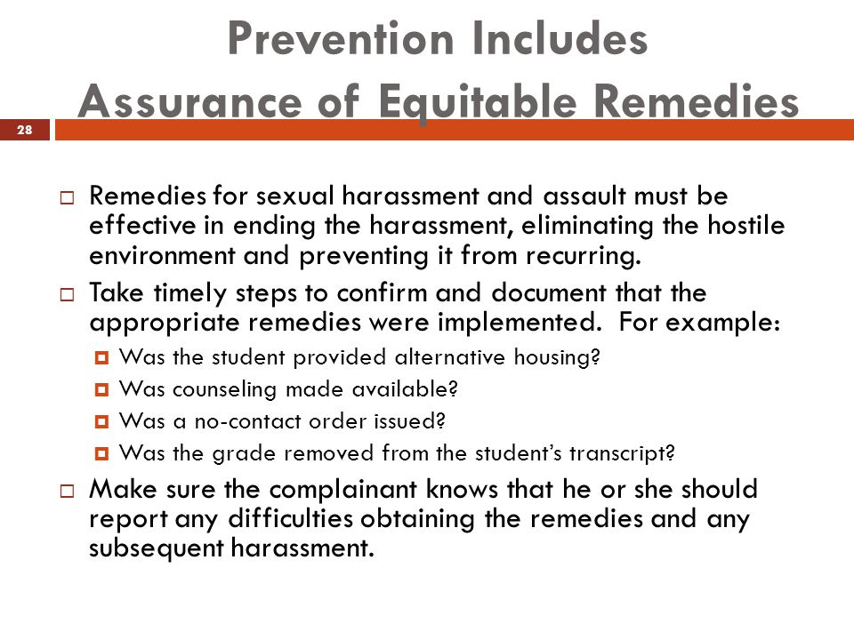 Prevention Includes Assurance of Equitable Remedies