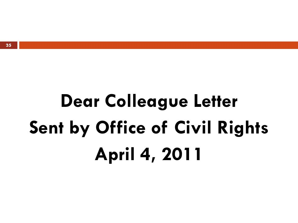 Sent by Office of Civil Rights