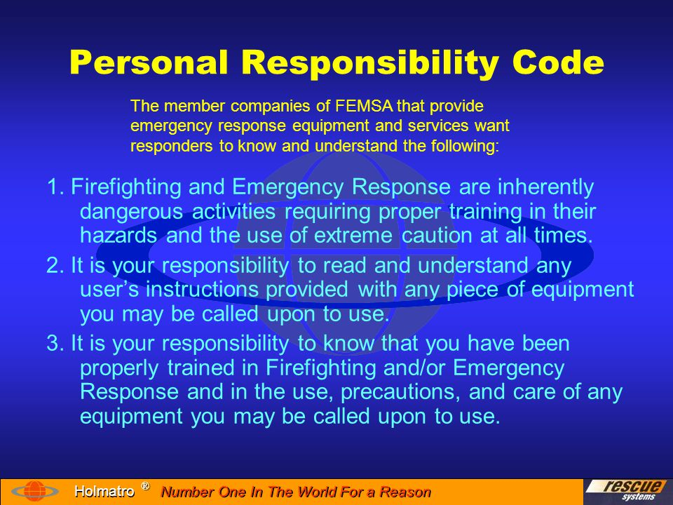 Personal Responsibility Code