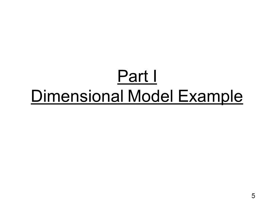 Part I Dimensional Model Example