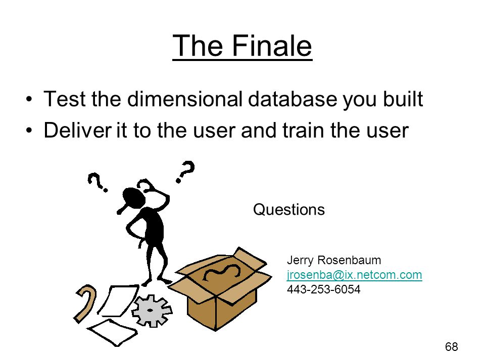 The Finale Test the dimensional database you built
