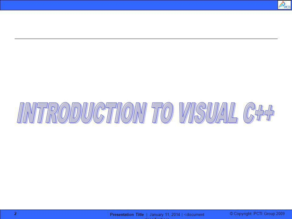 INTRODUCTION TO VISUAL C++