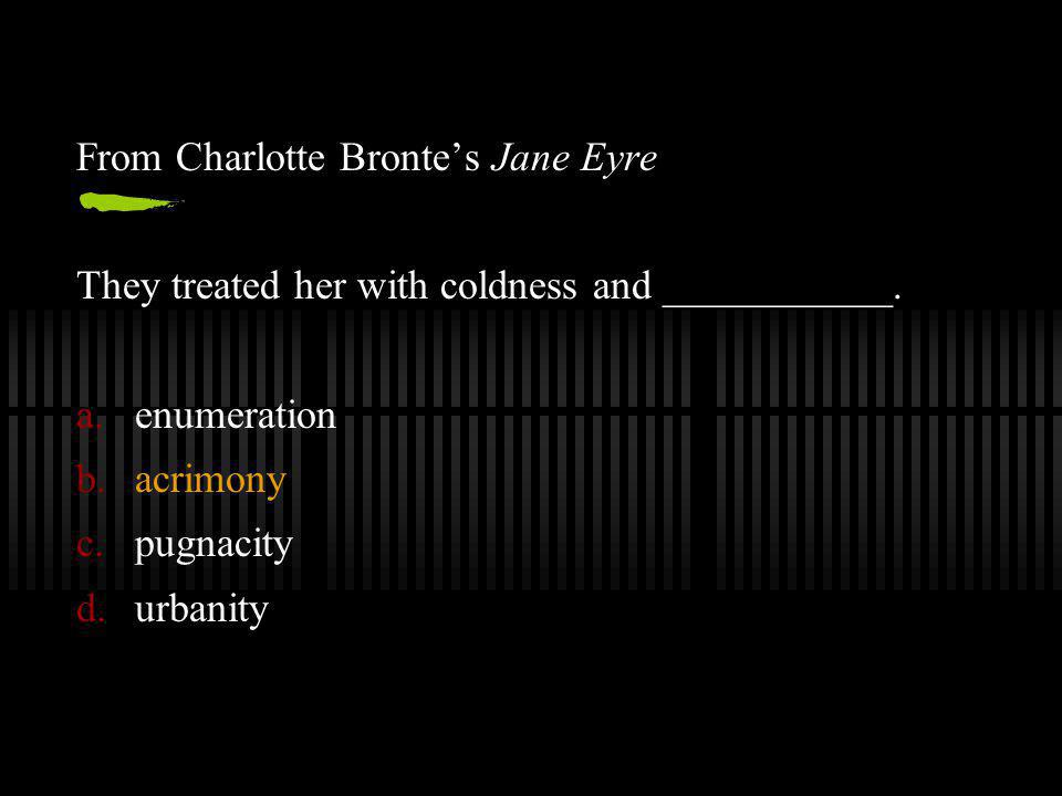 From Charlotte Bronte's Jane Eyre